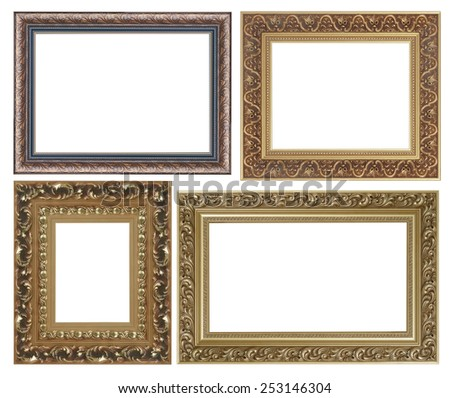 Four Antique Picture Frames High Resolution Stock Photo (Edit Now ...