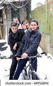 four bicyclists