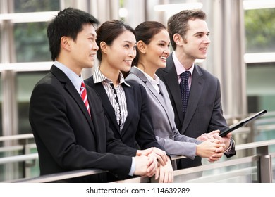 Four Business Colleagues Outside Office