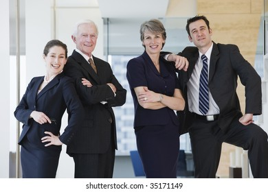 Four businesspeople