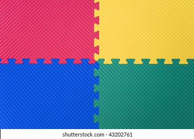 Four Color Rubber Floor Abstract Background .