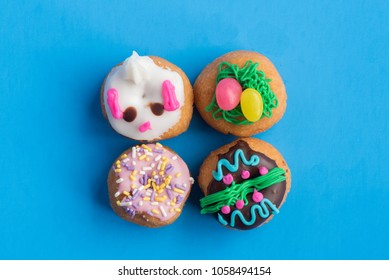 Four Decorated Mini Doughnuts