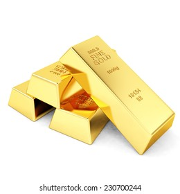 Four gold bars