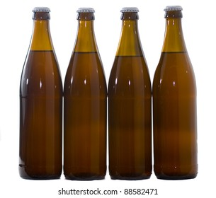 Four  Home Brew beer bottles