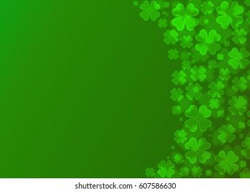 Four leaf clover bokeh effect on green background,Clover wallpaper,