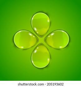 Four leaf clover. St. Patrick's day symbol.