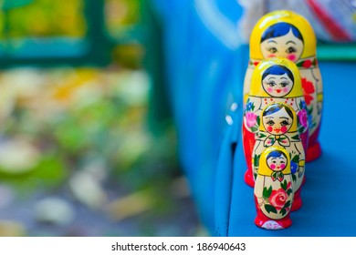 four Matryoshka Russian art exhibition
