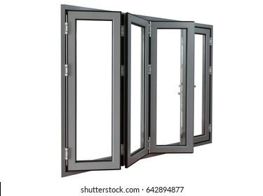 four panels commercial aluminium frame bi-fold doors