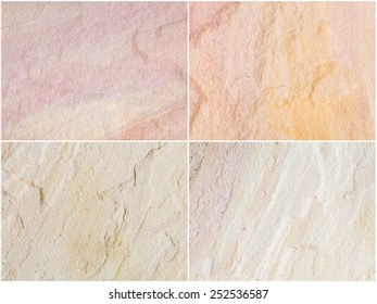 four patterned sandstone texture background.