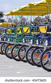 four person bicycle carts