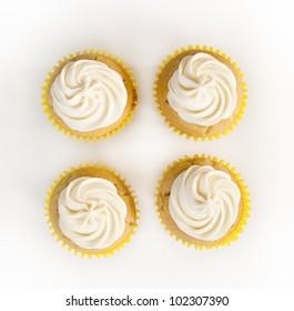 Four Plain Cupcakes