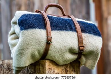 Four Point Hudson Bay Wool Blanket circa 1940s