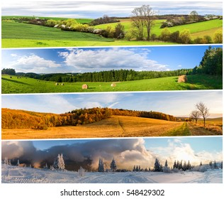 Four season nature collage from horizontal banners. All used photos belong to me.