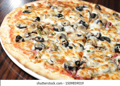 Four Seasons Pizza on plate