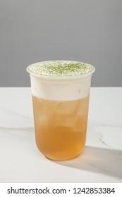 Four seasons tea macchiato drink