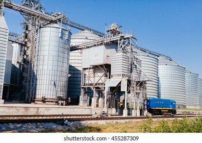 four silver silos
