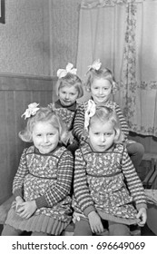 Four sisters sitting at home