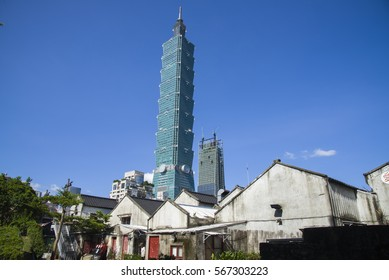 Four Four South Village,TAIWAN-August 15,TAIWAN-October 17, Forty-four South Village is a monument of architecture close to Taipei 101