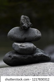 Four stacked rocks