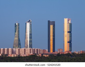 Four Towers Skyline. Madrid, Spain.