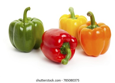 four types of peppers