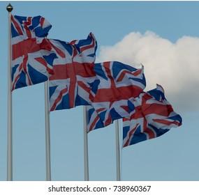 Four Union Flags of United Kingdom