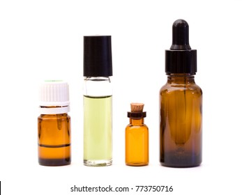 Four Various Containters for Essential Oils and Natual Medicines Perfumes