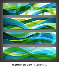 four versions of abstract banners and backgrounds