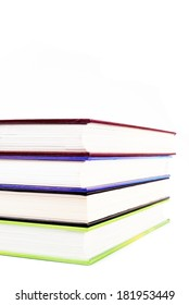 Four volumes of books on a white background