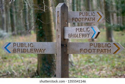 Four Way Signpost, Countryside Signpost, Footpath Signpost