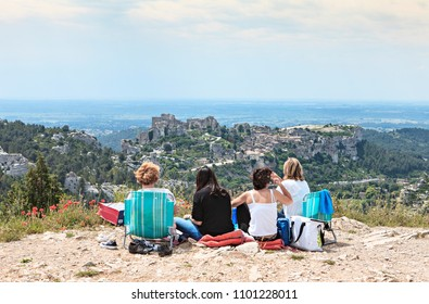 four women looking at the scenery