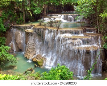 Fourth floor of Huay Mae Kamin Waterfall, Khuean Srinagarindra National Park, Kanchanaburi, Thailand