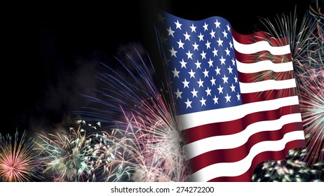 Fourth of July, Background, Fireworks, USA themed composites