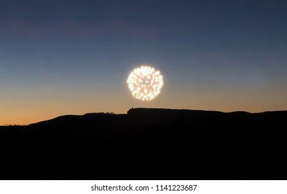 Fourth of July fireworks in New Paltz, New York