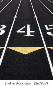 The fourth lane of a track and field running lane.