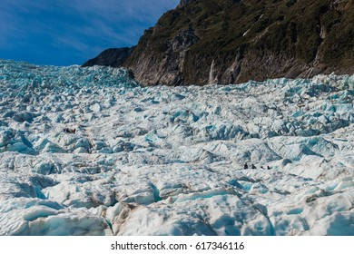 Fox glaciers in blue sky, Southern island, New Zealand