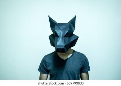 The fox head papercraft
