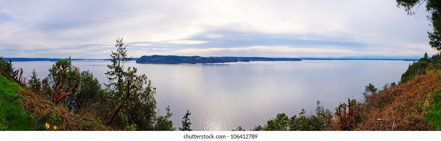 Fox Island residential home view, 1 hour drive South West from Tacoma.
