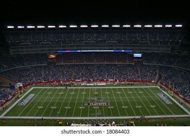 FOXBORO, MA -- JANUARY 12, 2008: The New England Patriots defeated the Jacksonville Jaguars in the Divisional Playoffs in Foxboro Massachusetts on January 12, 2008