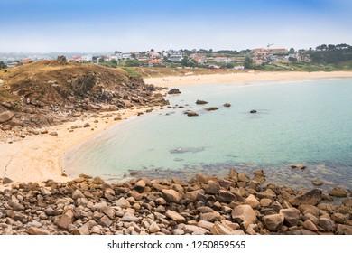 Foxos beach and village in Sanxenxo town