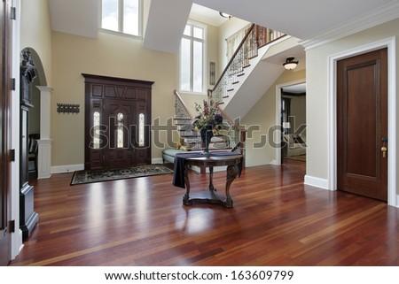 Foyer Luxury Home Cherry Wood Flooring Stock Photo Edit Now