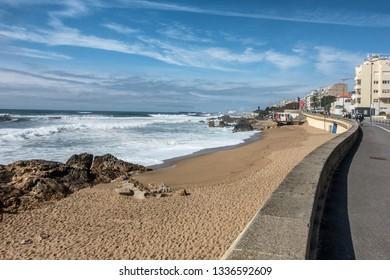 Foz beach in Porto Portugal