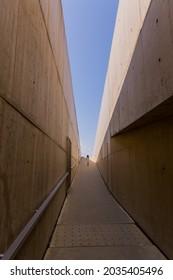 FOZ COA, PORTUGAL - AUGUST  28 2021: Coa Museum in Vila Nova de Foz Coa. Archeological Museum of the Coa Valley. Portugal