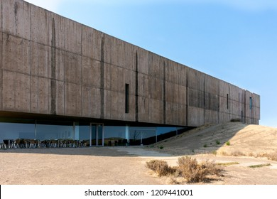 FOZ COA, PORTUGAL - NOVEMBER 2017: Côa Valley Art and Archaeology Museum by Architects Pedro Tiago Pimentel   and Camilo Rebelo.