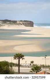 Foz do Arelho, The Lagoa de obidos, lagoon in the Portugal  west silver coast, bom sucesso