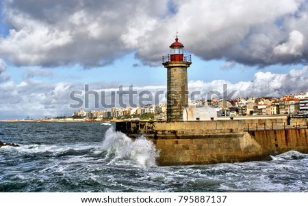 Foz do Douro lighthouse, Oporto, Portugal