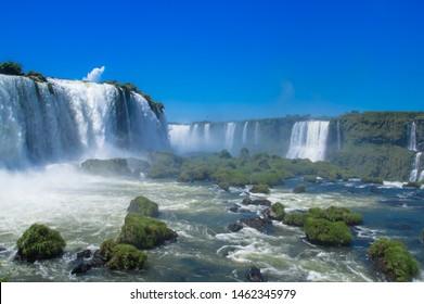 Foz do Iguazu, BRAZIL - FEBRUARY 24, 2018: Foz do Iguazu. Is a touristic town and waterfalls at Brazil.