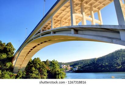 Foz do Sousa bridge near Oporto, Portugal