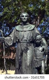 Fr. Serra - catholic missionary - monument at mission San Fernando, California,