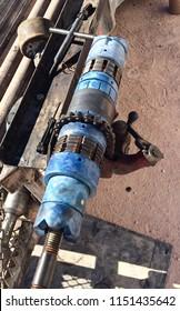 Frac Plug in a Vice